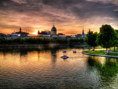 Sunset in HDR - Old Port, Montreal by 007emperor, via Flickr Of Montreal, Montreal Canada, Old Port, O Canada, Sun And Water, The Province, Quebec, Hdr, Landscape Paintings