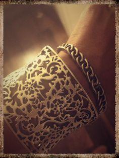 Up close details. Love these 2 bracelets!