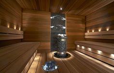 Saunagalleria I SUN SAUNA Oy I Ideoita saunaremonttiin, saunaideat Portable Steam Sauna, Sauna Steam Room, Sauna Room, Outdoor Sauna, Jacuzzi Outdoor, Sauna Lights, Modern Saunas, Sauna Heater, Dry Sauna