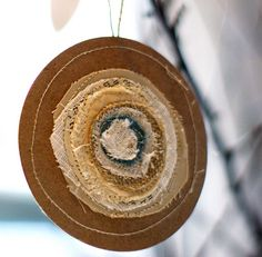 cute ornament to make from scraps - could also do layers of vintage papers