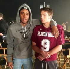 Khylin Rhambo and Dylan Sprayberry on the set of #TeenWolfSeason5B!!!
