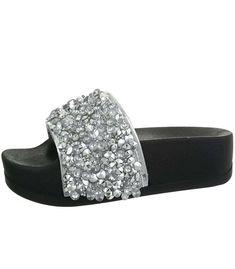 Strieborné šľapky na platforme Platform, Shoes, Fashion, Moda, Zapatos, Shoes Outlet, Fashion Styles, Shoe, Heel