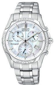 Citizen Women's FB1250-52D Eco-Drive Stainless Steel Diamond Chronograph Watch