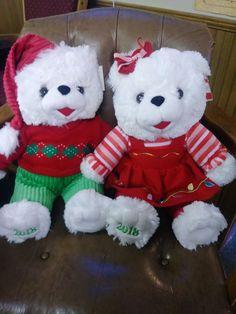2018 Walmart Christmas Snowflake Teddy Bear Plush Boy 13 Love