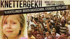 KNETTERGEK!! 'Vluchtelingen' boven Basisschool Sterksel geplaatst - Liefde voor Holland