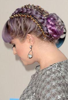 Penteados com tranças - Kelly Osbourne
