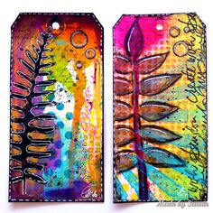 Made by Sannie: Dina style inspired tags with video tutorial - it's a ray of Sunshine this week Monday Challenge! Art Journal Pages, Art Journaling, Memory Journal, Mixed Media Tutorials, Art Tutorials, Gelli Plate Printing, Atc Cards, Handmade Tags, Art Journal Inspiration