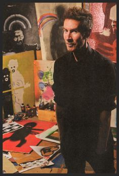 Robert Del Naja in his art studio in Bristol. Taken by James Sharrock in 2014 for the issue of Very Nearly Almost (VNA) magazine, which also contained an in-depth interview with about his art career. Massive Attack, Dream Pop, Trip Hop, Music Pics, 3d Street Art, Portraits, Contemporary Abstract Art, Banksy, Electronic Music