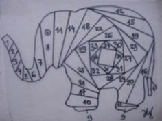 Elephant iris folding: