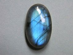 Another Flashy Blue Labradorite Cabochon in Oval Shape 26x15