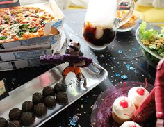 Guardians of the Galaxy party food table for the Disney Infinity 2.0 Marvel Super Heroes release #InfinityHeroes #CollectiveBias #shop