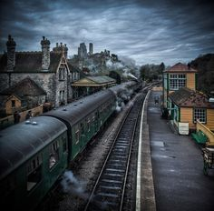 Corfe Station, Dorset, England all aboard for childhood memories (by michael marsh)
