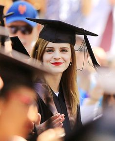 Congrats with XOXO to my Lovely Emma Watson on her graduation from Brown University with a bachelor degree in English.