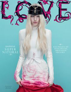 Issue: Super Natural Location: London Model: Daphne Creative Direction: Lee Swillingham and Stuart Spalding Editor: Katie Bland Website: http://www.thelovemagazine.co.uk/