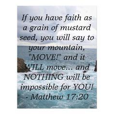 Matthew 17:20  Motivational Bible Quote  Personalized Flyer  Pin 3  #BJUPress  #OrganizedHomeschool