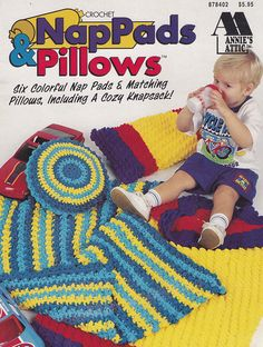 Nap Pads & Pillows, Annie's Attic Crochet Pattern Booklet 878402