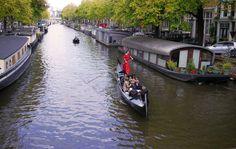 Gondola ride in Amsterdam
