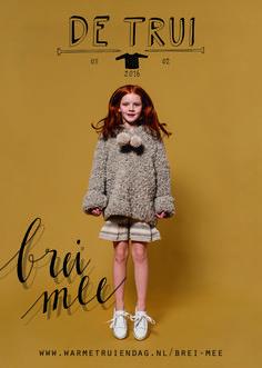 Minna in de kindertrui voor #warmetruiendag Gratis patroon op de website wol: Erika Knight Fur wool foto Eva Broekema Grafisch ontwerp Het Paradijs Arnhem