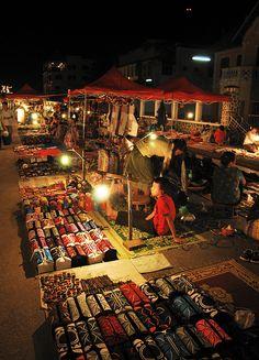 Night market in Luang Prabang, Laos Luang Prabang, Laos Travel, Asia Travel, Vietnam, King Travel, Travel Around The World, Around The Worlds, Vientiane, Local Tour