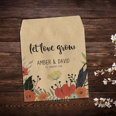 Wedding Seed Packets Rustic Weddings Boho Wedding by MinikinGifts