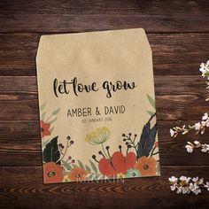 Wedding Seed Packets Rustic Weddings Boho Wedding by MinikinGifts