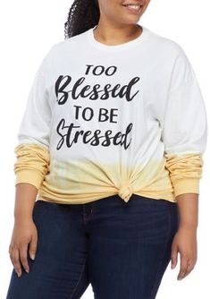 Popcorn Holder, Young Fabulous And Broke, Dip Dyed, Graphic Sweatshirt, T Shirt, Blessed, Plus Size, Colorful, Cold