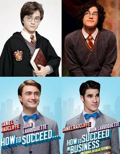 """Okay why have I never made this connection?"""" What, that Darren Criss will always be better that Daniel Radcliffe? Darren Criss is just amazing Theatre Geek, Musical Theatre, Nerd Love, My Love, Very Potter Musical, Team Starkid, Avpm, Harry Potter, Yer A Wizard Harry"""