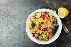 Broccoli, Pepper and Quinoa Stir-fry