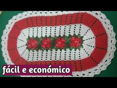 Crochet Bedspread Pattern, Crochet Patterns, Crochet Videos, Doilies, Embroidery Patterns, Coasters, Projects To Try, Youtube, Knitted Rug