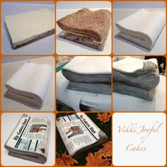 Photo tutorial - steps involved in making my newspaper cake