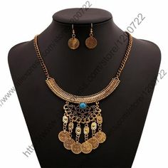 Coin Style Silver tone Ethnic Brass Metal Vintage Choker//Necklace Gilet Material