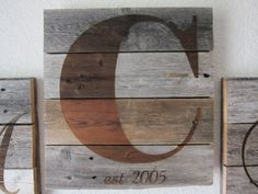 Weathered Wood Monogram  Large Panel by CraftHausLove on Etsy, $22.00 by 7lee