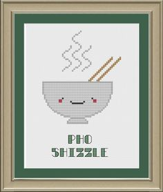 Pho shizzle cute pho crossstitch pattern by nerdylittlestitcher, $3.00