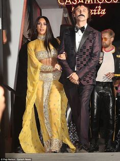 I got you babe! Kim Kardashian and her friend Jonathan Cheban were the spitting image of Sonny and Cher as they attended the star-studded Casamigos Tequila Halloween party