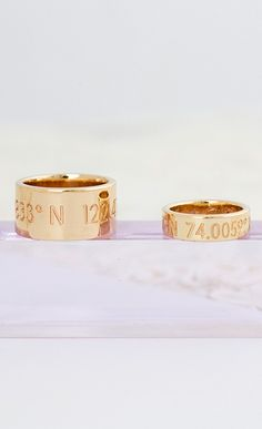 There's a ring to it. The perfect wedding bands from Coordinates Collection.