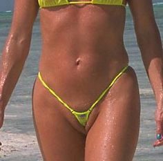 What is the opposite of camel toe? Yes, that's right! A vagina swallowing a bathing suit!