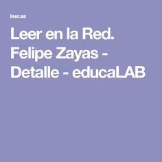 Leer en la Red. Felipe Zayas - Detalle - educaLAB