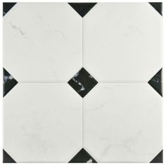 This Merola Tile Betera Jet Blanco Ceramic Floor and Wall Tile offers a semi-vitreous low sheen finish that completes any room in the home. Ceramic Floor Tiles, Wall And Floor Tiles, Wall Tiles, Ceramic Flooring, Tile Projects, Spanish Tile, Calacatta, Stone Tiles, Bathroom Flooring