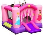 Little Princess Jumping Castle hire for $100 for the day.    Our Little Princess Bouncer is perfect for any Little Princess and a few of her friends.  For extra fun it has a slide and a basketball hoop.     Have a great birthday party with this great jumping castle.     Dimensions:  4.6m(L) x 2.25m(W) x 1.8m(H)   Maximum age of children: 5 years   Maximum number of children: 3