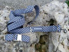 Halsband und Leine Set GRAUER DALMATINER XL 4cm von stitchbully.de macht buntes für Hunde auf DaWanda.com