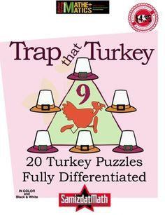 It starts out so simple: arrange the hats numbered 1 - 6 so that each side of the trap adds up to 9. Next, rearrange them so they add up to 10, then 11, then 12. Next use the numbers 2 - 7 to add up to 12, 13, 14 and 15. What about the numbers 1, 3, 5, 7, 9 and 11? What totals can you make with those? 53 pages of fun and thinking.