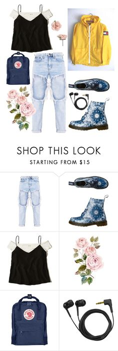 """""""Devil and roses"""" by miamolnar ❤ liked on Polyvore featuring Dr. Martens, Hollister Co., Fjällräven, Sennheiser and 1928"""