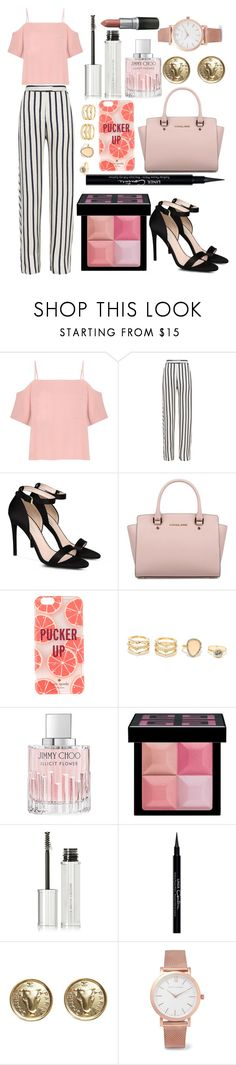 """pucker up"" by walkthesun on Polyvore featuring T By Alexander Wang, Nicholas, STELLA McCARTNEY, Michael Kors, Kate Spade, LULUS, Jimmy Choo, Givenchy, Chanel and Larsson & Jennings"