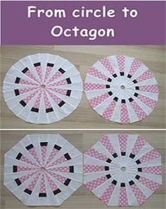 GREAT idea! Love the simple color scheme - very modern looking! Geta's Quilting Studio: From circle to octagon