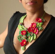 Statement crochet necklace | by DAINTYCROCHETBYALY