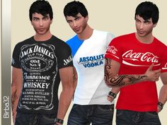 The Sims Resource: Brand Bar T-Shirts by Birba32 • Sims 4 Downloads