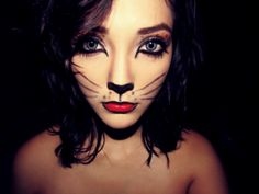 Going to try this Face Paint Makeup, Cat Makeup, Girls Makeup, Love Makeup, Makeup Ideas, I Feel Pretty, Pretty Cats, Halloween Cat, Halloween Makeup