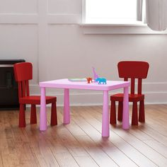 Tot Tutors Plastic Table & 4 Chairs | Plastic tables, Playrooms and Room