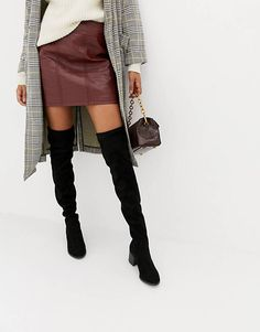 Buy New Look Over The Knee Block Heel Boot at ASOS. With free delivery and return options (Ts&Cs apply), online shopping has never been so easy. Get the latest trends with ASOS now. Black Heel Boots, Flat Boots, Thigh High Boots, High Heel Boots, Over The Knee Boots, Heeled Boots, Women's Boots, Asos, Only Fashion