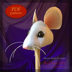 Mouse Rat Head Costume Pattern by RedHenDIY on Etsy